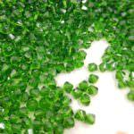 5328 Swarovski Xilion Beads (bi-cone) Fern Green, 10pcs