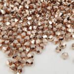 5328 Swarovski Xilion Beads (bi-cone) Rose Gold 2X, 10pcs