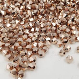 Swarovski Xilion Beads Bicon 5328 MM 4,0 CRYSTAL ROSE GOLD 2X
