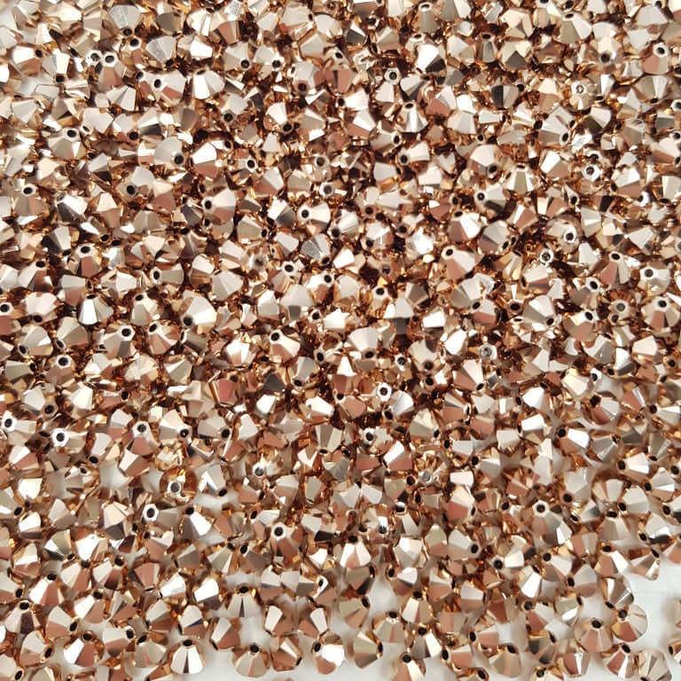 Swarovski Xilion Beads Bicon 5328 MM 4,0 CRYSTAL ROSE GOLD 2X