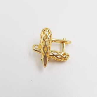 Earring components Gold plated