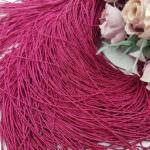 French Wire/Bullion Stiff Wire, Darker Fuchsia, 1 mm