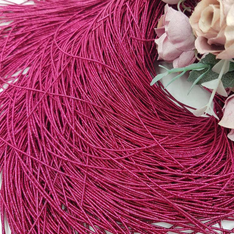French wire/Bullion wire Darker Fuchsia