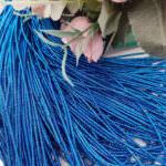 Канитель (жесткий трунцал), Многоцветный: синий-бирюзовый, 1 мм