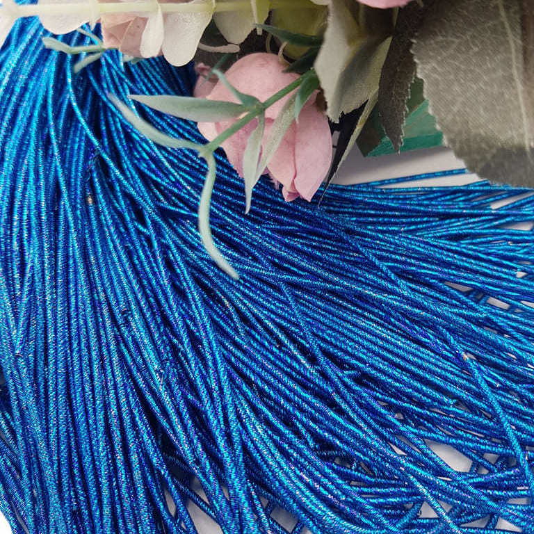 French wire/Bullion wire multicolor blue-turquoise