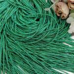 Канитель (жесткий трунцал), Многоцветный: зеленый-золотой, 1 мм
