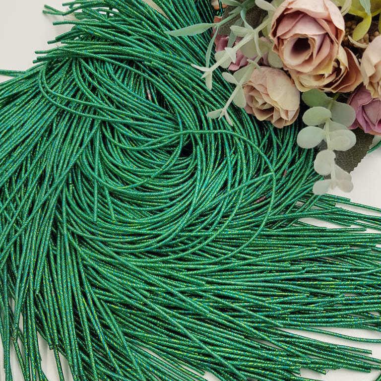 French wire/Bullion wire multicolor green-gold