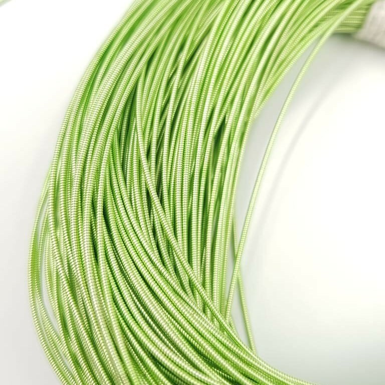 Stiff French Wire, Pistachio Color