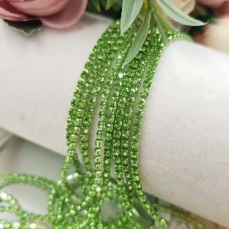 red cup chain green rhinestones ss6