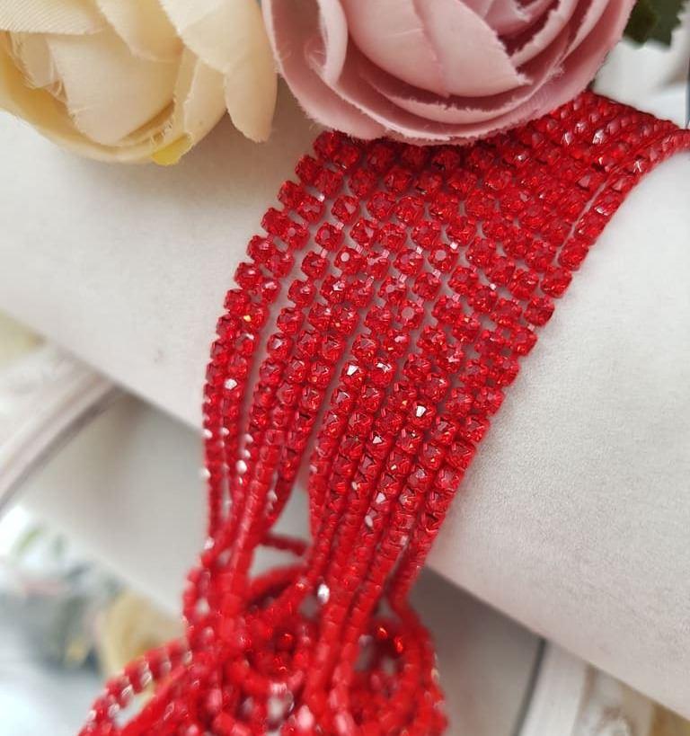 red cupchain red rhinestones ss6