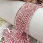 Crystal Rhinestone Cup Chain on Pink Base, SS6