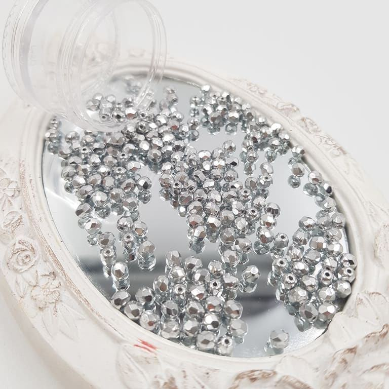 Fire-Polish czech beads 27000CR