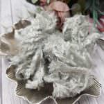 Feather Chenille Thread, Platinum Grey Color, made in France