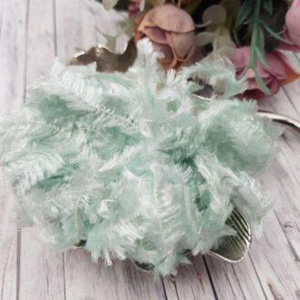 Feather chenille thread sky blue