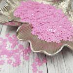 "Loose Flat Sequins/Paillettes, Six-Petals Flower ""Roselline"", Rose Fuchsia, 5mm, Andrea Bilics"