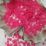 """Рассыпные плоские пайетки, Цветок с шестью лепестками """"Роза"""", Pink Fuchsia, 5 мм, Andrea Bilics"""