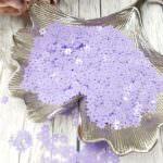 "Loose Flat Sequins/Paillettes, Six-Petals Flower ""Roselline"", Lilac, 5mm, Andrea Bilics"