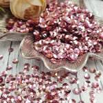 Italian Cup Sequins/Paillettes, Light Violet Color with Iridescent Metallic Aspect #3075, Andrea Bilics