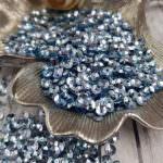 Italian Cup Sequins/Paillettes, Blue Color with Iridescent Metallic Aspect #6015, Andrea Bilics
