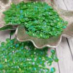 """Итальянские пайетки, чаша, зеленый, эффект """"Ориентал"""" #7353, Andrea Bilics"""