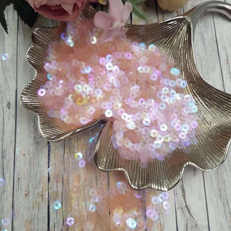MP4-134 Loose flat sequins Rose transparent rainbow Andrea Bilics