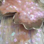 """Итальянские пайетки, плоские, розовый цвет, эффект """"Радужный прозрачный"""" #134, Andrea Bilics"""