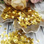 "Italian Flat Sequins/Paillettes, Gold ""Metallizzati"" Aspect #2011, Andrea Bilics"