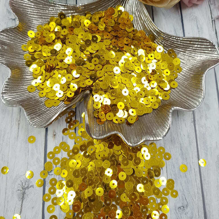 MP4-2201 Loose flat sequins Yellow Gold Metallizzati Andrea Bilics