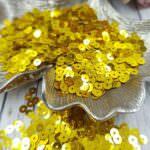 "Italian Flat Sequins/Paillettes, Yellow Gold ""Metallizzati"" Aspect #2201, Andrea Bilics"