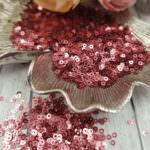 "Italian Flat Sequins/Paillettes, Dark Rose ""Metallizzati"" Aspect #3271, Andrea Bilics"