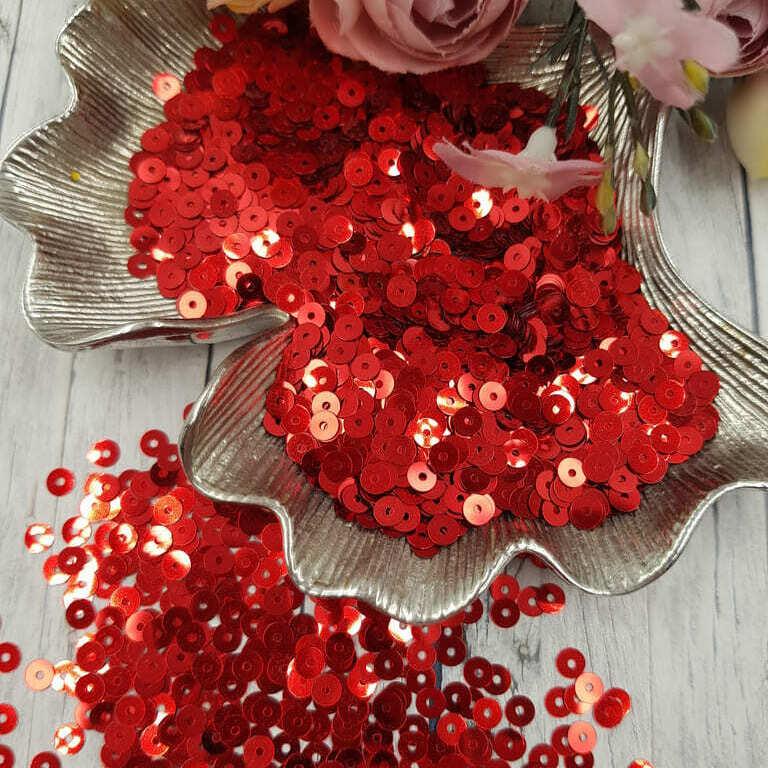 MP4-4061 Loose flat sequins Red Metallizzati Andrea Bilics