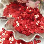 "Italian Flat Sequins/Paillettes, Red ""Metallizzati"" Aspect #4061, Andrea Bilics"