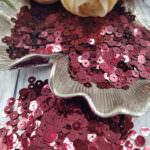 "Italian Flat Sequins/Paillettes, Bordeaux ""Metallizzati"" Aspect #4071, Andrea Bilics"
