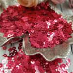 "Italian Flat Sequins/Paillettes, Cherry ""Metallizzati"" Aspect #5511, Andrea Bilics"