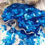 "Italian Flat Sequins/Paillettes, Electric Blue ""Metallizzati"" Aspect #6121, Andrea Bilics"