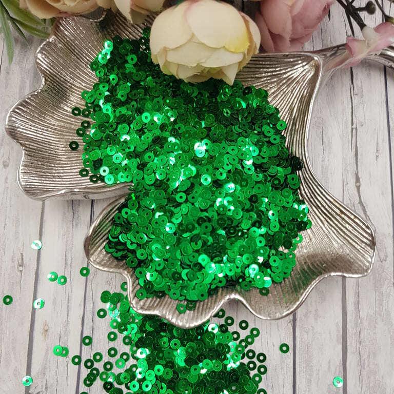 MP4-7041 Loose flat sequins emerald green Metallizzati Andrea Bilics