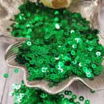 """Итальянские пайетки, плоские, изумрудный зеленый, эффект """"Металлизированный"""" #7041, Andrea Bilics"""