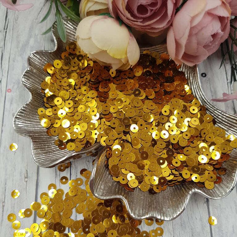MP4-8031 Loose flat sequins Dark Gold Metallizzati Andrea Bilics