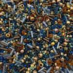 TOHO Multi-Shape/Color Mix, Raiden- Gold-Green-Blue Mix, TX-01-3220