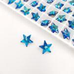 4745 Swarovski Rivoli Star Fancy Stone, Bermuda Blue 10 mm