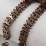 Hematite Chenille Beads, Dark Bronze, 8x6 mm