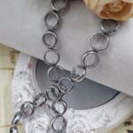 Hematite Ring Beads, Silver Color, 10 mm