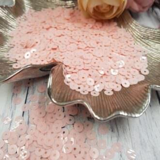 MP4-3344 Opaline Baby Pink Italian Sequins, Andrea Bilics