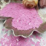 """Итальянские пайетки, плоские, Розовый, эффект """"Опал"""" #3504, Andrea Bilics"""