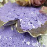 """Italian Flat Sequins/Paillettes, Lilac """"Opaline"""" Aspect #5144, Andrea Bilics"""