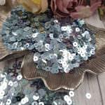 "Italian Flat Sequins/Paillettes, Blue ""Iridescent Metallized"" Aspect #6015, Andrea Bilics"