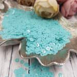 "Italian Flat Sequins/Paillettes, Turquoise ""Opaline"" Aspect #6104, Andrea Bilics"