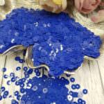 "Italian Flat Sequins/Paillettes, Electric Blue ""Opaline"" Aspect #6774, Andrea Bilics"