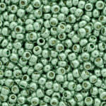 TOHO Round Seed Beads 15/0, PermaFinish - Galvanized Mint Green, TR-15-PF570