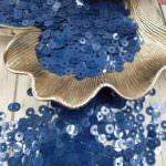 """Итальянские пайетки, плоские, Тёмно-синий, эффект """"Метал"""" #6129, Andrea Bilics"""